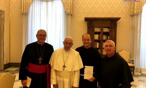 Bispo da Diocese de Óbidos Dom Bernardo visita Roma e é recebido pelo Papa Francisco