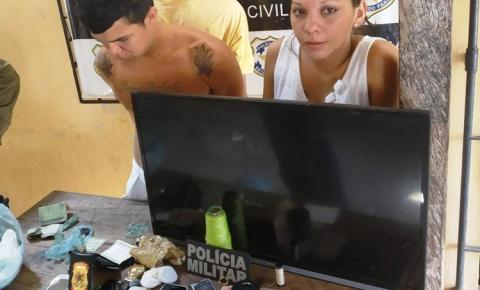 A polícia civil e militar de Alenquer, prende em flagrante os nacionais Rafael e Michele e um menor infrator