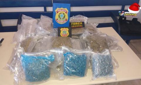 Droga é encontrada no interior de veículo da marca Ford Fiesta que estava dentro de uma embarcação no Porto de Óbidos