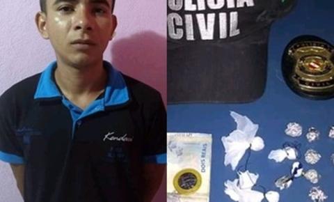 Homem é preso acusado de tráfico de droga em Curuá, PA