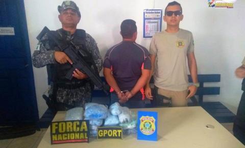 16Kg de drogas são apreendidos em uma embarcação no porto de Óbidos.
