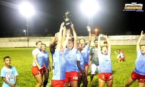 Time do Arapucu vence a 6ª edição da copa Comam de futebol feminino em Óbidos.