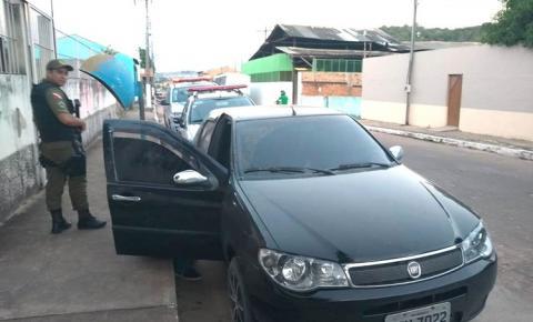 Polícia Militar de Óbidos, apreende veículo clonado com placa do estado do Amazonas e prende condutor.