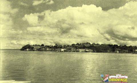 Óbidos durante a grande cheia de 1953