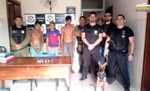 Em Óbidos, três homens e uma mulher, foram presos por tráfico de drogas. Na operação foi usada a cadela Noa especializada em farejar drogas
