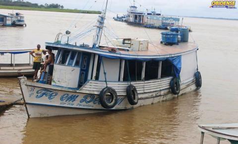 Em menos de uma semana quatro embarcações são apreendida pela SEMMA quando passavam em frente a cidade de Óbidos-PA.