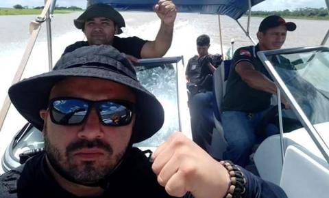 """Presos recapturados chegam em Alenquer. Idiney Correa Mendonça, vulgo """"Alemão"""" e Magno de Sousa Moreira, vulgo """"Olhão""""."""