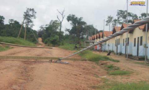 Portes de energia elétrica viram após mais de 6 horas de chuvas em Óbidos.