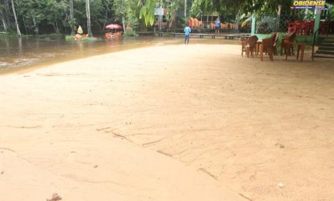 Balneário Curuçambá foi assoreado após forte chuva que caiu na cidade de Óbidos na madrugada da quinta-feira (07)