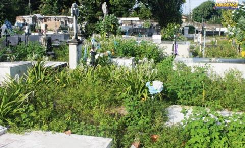 Comunidade reclama a falta de manutenção no cemitério Municipal de Óbidos.