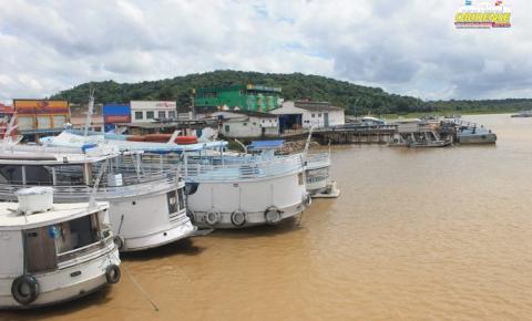 Nível do rio Amazonas está acima da média se compararmos com os mesmos dados dos dois últimos anos.