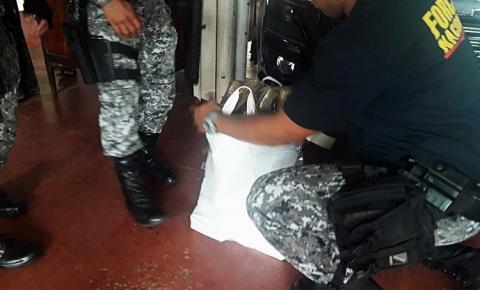 Policia Federal, Força Nacional e Guarda Portuária apreende cerca de 21kg de maconha em Óbidos.