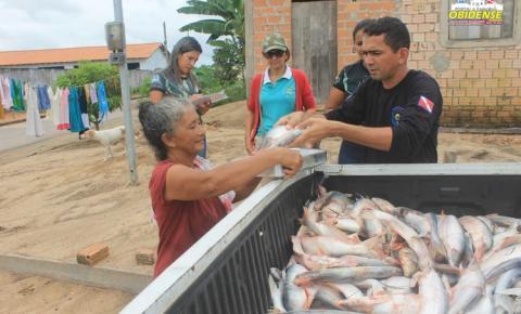 SEMMA realiza distribuição do pescado apreendido.