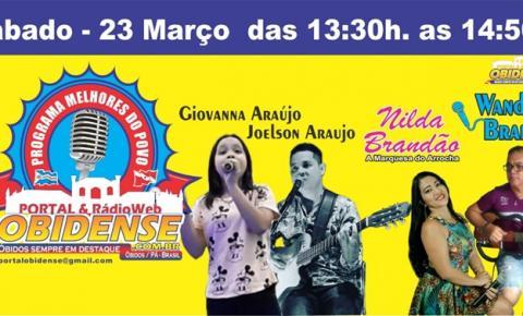 Programa As Melhores do Povo em Novo dia e horário, receberá 4 atrações musicais. Agora aos sábado das 13:30 as 14:50