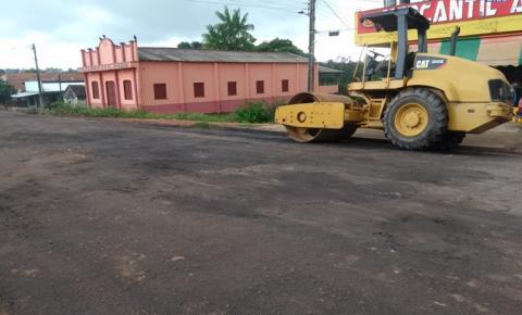 SEURBI realiza trabalho de tapa buraco na avenida Dom Floriano em Óbidos.