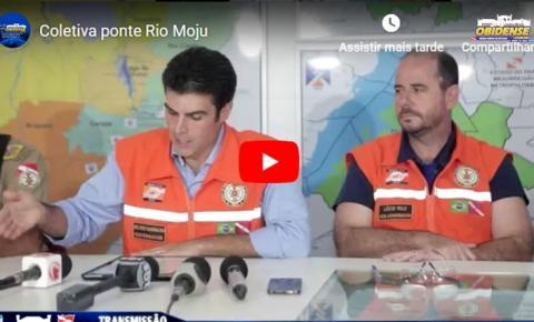 Assista a coletiva do governo do estado do Pará sobre o acidente onde desabou parte da ponte do Rio Moju.