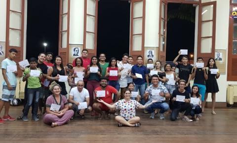Em média 40 pessoas participaram da oficina de mídias digitais que aconteceu em Óbidos na casa de cultura nos dias 08 a 12.