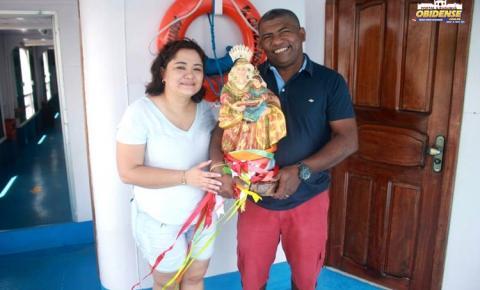 Imagem peregrina de senhora Sant'Ana parte para Manaus