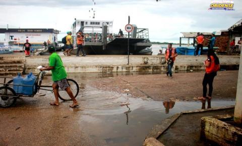 Em Óbidos nível do rio Amazonas deixa coordenadoria de defesa civil em alerta