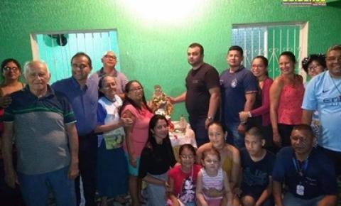 Nesta terça-feira (30) duas residências receberá a vista da Senhora Sant`Ana que está em peregrinação em Manaus.