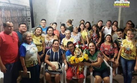 Quarta-feira (08) Sant`Ana peregrina visita as residências de Neia e Lina e Fátima Aquino