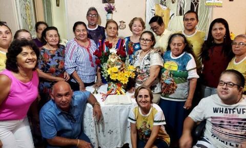 Quarta-feira (08) Sant`Ana peregrina visita as residências de Célio Moisinho e Maria Eduarda e Sebastião