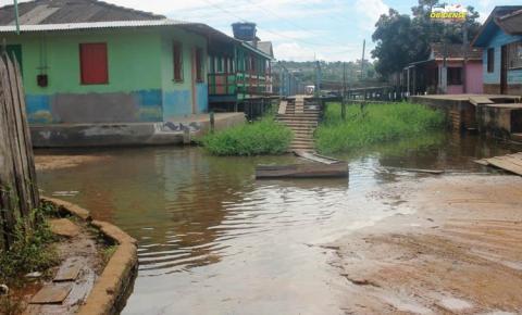 Nível do rio Amazonas recua 10cm em Óbidos
