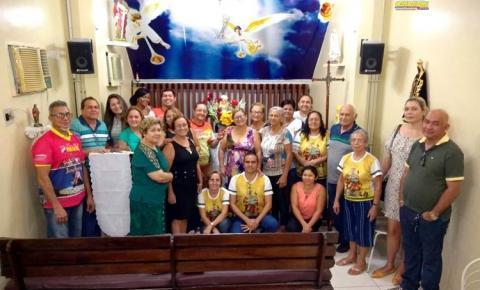 Nesta quarta-feira (15), Sant`Ana peregrina visita as residências de Neide Medeiros, Antônio Aquino e Antônio Aquino