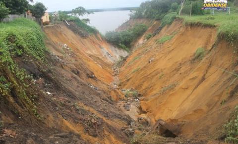 Chuvas no município de Óbidos, aumenta Cratera localizada na Trav. Juraci Matos