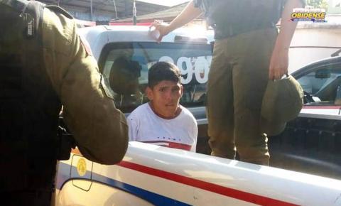 Com ajuda da comunidade, polícia prende acusado de praticar assalto em Óbidos