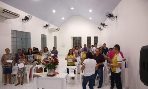 Nesta quinta-feira (15), Sant`Ana peregrina visita as residências de Nazaré Lima (Bereca), Júlio César e Luiz