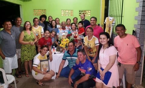 Nesta segunda (20), Sant`Ana peregrina visita as residências de Rosidalva / Maria Delza Aquino e D. Raimunda