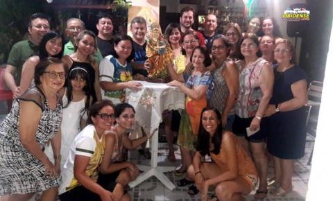 Em peregrinação por Belém, Senhora Sant`Ana visitou a residência de Sinval Dias