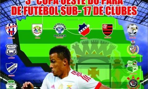 Participação Obidense Time obidense se prepara para participar da Copa Oeste de futebol sub-17