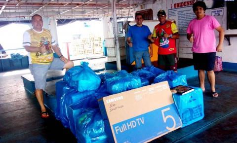 Mais de 100 brindes são enviado para Óbidos pelos coordenadores da peregrinação de Sant`Ana em Manaus