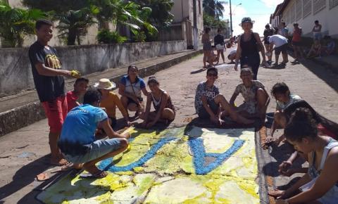 Pinturas nas ruas de Óbidos celebra dia de Corpus Christi