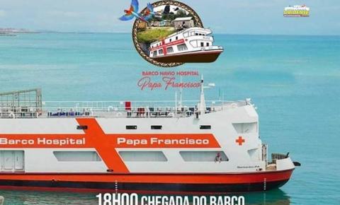 Barco Hospital Papa Francisco trará a Imagem peregrina de Sant`Ana de volta a Óbidos