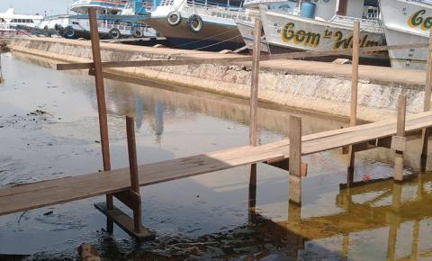 Período de vazante continua com recuo do nível do Rio Amazonas em Óbidos