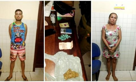 Em Óbidos, casal é preso em flagrante por suspeita de tráfico de drogas