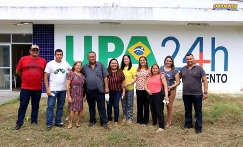 Prédio da UPA, motivo de polêmica, recebe visita do prefeito de Oriximiná