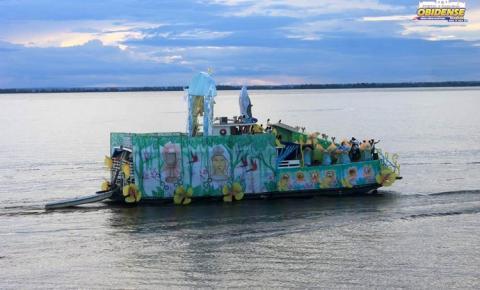 Círio Fluvial de Sant'Ana 2019, foi recebido com salva de fogos pelas embarcações e por grande devoção dos fiéis em Óbidos