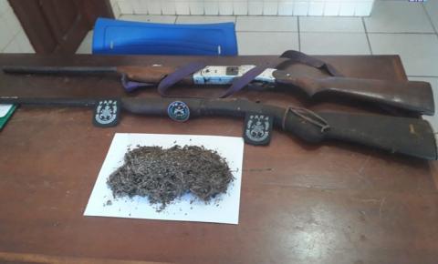 Dois homens são presos com armas e drogas na comunidade Peruana, em Óbidos