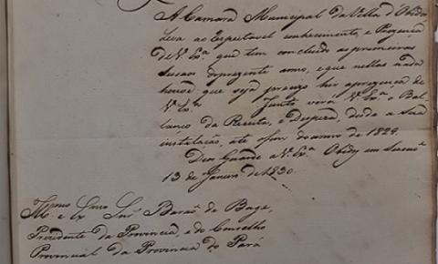Um dos primeiros documentos da Câmara Municipal da Vila de Óbidos