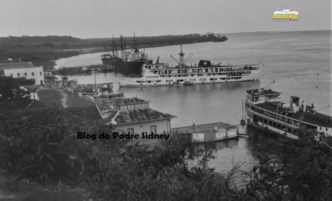 Década de 1930 - Porto da cidade de Óbidos
