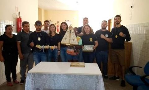 Delegacia integrada de Oriximiná recebe visita da imagem de Nossa Senhora de Nazaré nesta manhã de terça-feira (23).