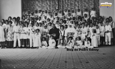 Na década de 1950 - Grupo de crianças da Primeira Eucaristia em Óbidos