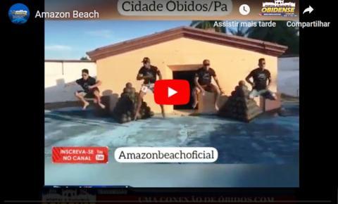 Banda Amazon Beach aproveitou sua passagem por Óbidos para gravar clipe de apenas 1mn11seg