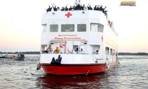 Barco Papa Francisco, fará 6 dias de mutirão em atendimento no município de Óbidos