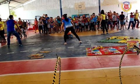 Brincadeira Inclusiva na escola municipal Dom Floriano | Portal Obidense