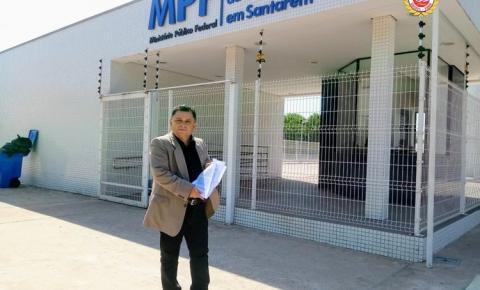 Rosinaldo Cardoso foi ao Ministério Público Federal, em Santarém | Portal Obidense
